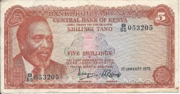 5 Shillings 1975 - Kenia