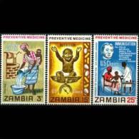 ZAMBIA 1970 - Scott# 62-4 Health Set Of 3 LH - Zambia (1965-...)