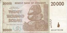 20,000 Dollars 2008 - Zimbabwe