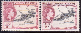 British Virgin Islands 1956-60 SG #149,149a ½c MNH OG Both Shades - British Virgin Islands