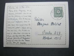 1946 , 5 Pfg. Ziffer Als EF Auf Ortskarte Dresden - Zone Soviétique