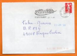 42 ST JUST ST RAMBERT  UN PATRIMOINE  21 / 1 / 1991 Lettre Entière N° Q 730 - Marcophilie (Lettres)