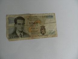 Billets   Vingt  Francs 15 -06-64        1t  4568183 - Bélgica