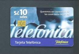 PERU  -  Chip Phonecard As Scan - Pérou