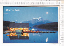 MALIGNE  LAKE  BY   MOONLIGHT  - JASPER  NATIONAL  PARK,   ALBERTA   - - Jasper