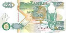 Zambia - Pick 36a - 20 Kwacha 1992 - Unc - Zambie