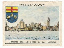 CHROMOS PUPIER - AMERIQUE DU NORD - CANADA - TORONTO, BORDS DU LAC ONTARIO. - Chocolat