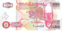 Zambia - Pick 37b - 50 Kwacha 1992 - Unc - Zambia