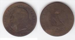 FRANCE  5 CENTIMES  NAPOLEON III  TETE LAUREE  ANNEE 1862 K - France