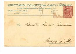 TRINO VERCELLESE - CASTELMERLINO - CARTOLINA COMMERCIALE AFFITTANZA COLLETTIVA - Vercelli
