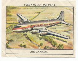 CHROMOS PUPIER - AMERIQUE DU NORD - CANADA - AIR CANADA. - Chocolat