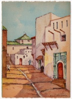 Salé Maroc Rue Aoba El Medersa Dessin Henri Noizeux éditeur Barré Dayez 1946 état Superbe - Rabat