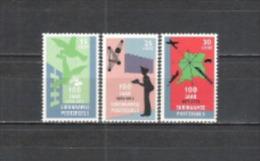 Suriname 1973 Postgeschichte Philatelie Briefmarken Postdienst Brieftauben Tauben Dove Briefträger Verkehr, Mi. 663-5 ** - Suriname