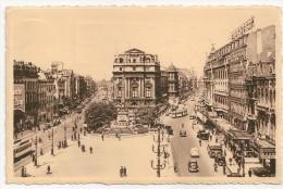 BRUXELLES Place De Brouckère/BRUSSEL De Brouckèreplaats Vers Natoye, Cachets Brussel Ert Marchin 1953 - Belgique