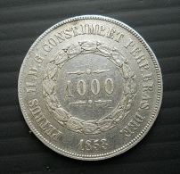 Brazil 1000 Reis 1853 Silver - Brasile