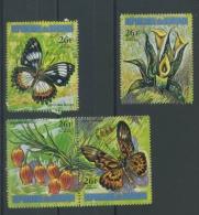 1973  Papillons Et Fleurs  26F **   Aérien Dépareillés  3 Valeurs Sans Défaut - 1970-79: Neufs