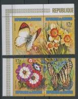 1973 Papillons Fleurs 17 F **   Aérien Dépareillés  4 Valeurs Sans Défaut - 1970-79: Neufs