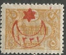 TURQUIE N° 215 SURCHARGE RECTO-VERSO  RR NEUF* TRACE DE CHARNIERE / MH / Signé CALVES / 2 SCANS / LEGER PLI - 1858-1921 Empire Ottoman