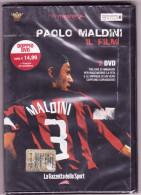 PAOLO MALDINI - IL FILM - DOPPIO DVD, LA GAZZETTA DELLO SPORT - NUOVO, ANCORA INCELLOPHANATO (MILAN SQUADRA CALCIO) - Sports