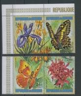 1973 Papillons Fleurs 24 F **   Aérien Dépareillés  4 Valeurs Sans Défaut - 1970-79: Neufs