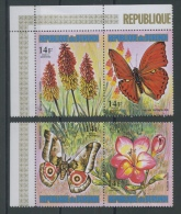 1973 Papillons Fleurs 14 F **   Aérien Dépareillés  4 Valeurs Sans Défaut - 1970-79: Neufs