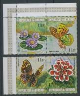 1973 Papillons Fleurs 11 F **    Dépareillés  4 Valeurs Sans Défaut - 1970-79: Neufs