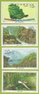 Chine 1995 3271 à 3274 ** Monts Dinghu Chutes D'eau Forêt Arbres Faisans - 1949 - ... République Populaire
