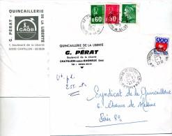 Lettre Cachet Chatillon - Marcofilie (Brieven)