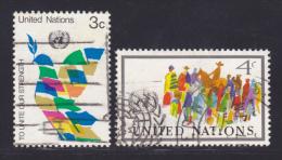NATIONS UNIES NEW-YORK N°  259 & 260 ° Oblitérés, Used, TB  (D1435) - Oblitérés