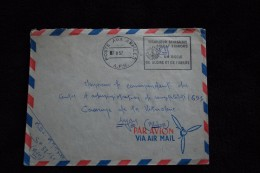 Enveloppe F.M. : Guerre D'Algérie - POSTE Aux ARMEES A.F.N. Du 7/8/1957 -   TIRAILLEURS SENEGALAIS & SOLDATS FRANCAIS - Militaria