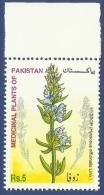 PAKISTAN 2002 MNH MEDICINAL PLANT PLANTS HYSSOP FLOWER FLOWERS - Pakistan