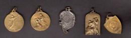 5 Médailles Souvenirs,  Albert I, Football, Enfant De Nos Soldats - Royaux / De Noblesse
