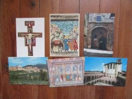 Lot De 6 Cartes De ASSISI        Italie       Basilique, L'Etable Où Naquit St François - Cartes Postales