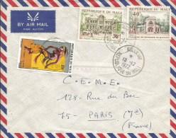 Mali 1972 Kolokani Danse General Post Office Chambre De Commerce Cover - Mali (1959-...)