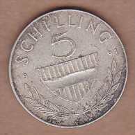 AC - AUSTRIA - 5 SCHILLING 1961 SILVER COIN VF+ - Austria