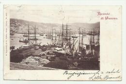 RICORDO DI GENOVA 1907 VIAGGIATA FP - Genova