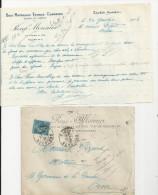 ELVEN RENE MONNIER BOIS CHARBON MATERIAUX ENGRAIS EPICERIE ANNEE 1926 LETTRE ENVELOPPE - France