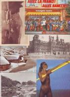 LOT DE 400 CARTES . CPA. CPSM . CPM. FRANCE . ETRANGER . PUBLICITE . FANTAISIES . Voyagées Ou Non .415 Cartes En Réalité - Postcards