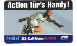Germany - D2 Vodafone - Call Now Card - Debitel - Inline Skates - Date 04/02 - Germany