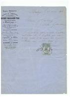 FORGE PLATINERIE ATELIERS à COUSOLRE (NORD)MAITRE DE FORGES à MAUBEUGE  DANDOY MAILLIARD FILS  1872 - 1800 – 1899