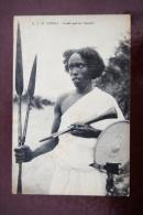 1 CP R.C.M. Somali, Somali Guerrier (Parade) Gros Plan, Lances - Somalie