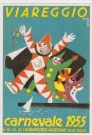 CARNEVALE DI VIAREGGIO 1955  RIPRODUZIONE CARTOLINE STORICHE IN OCCASIONE DEI 130 ANNI DEL CARNEVALE - Viareggio