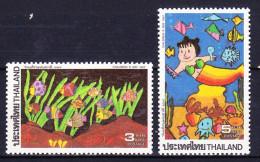 THAILANDE 1992 YT N° 1434 Et 1435 ** SEA LIFE - Tailandia