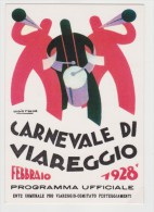 CARNEVALE DI VIAREGGIO 1928  RIPRODUZIONE CARTOLINE STORICHE IN OCCASIONE DEI 130 ANNI DEL CARNEVALE - Viareggio