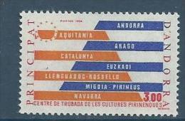 """Andorre YT 333 """" Cultures Pyrénéennes """" 1984 Neuf** - French Andorra"""