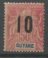GUYANE N�  72  NEUF** LUXE SANS  CHARNIERE / MNH