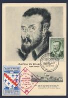 Carte Premier Jour 1959 Joachim Du Bellay Exposition Philatelique Lire - 1950-59