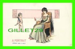 COMICS - ILLUSTRATOR, C, J, ROSE, 1908 - A PORTRAIT  - 3/4 BACK - - Bandes Dessinées