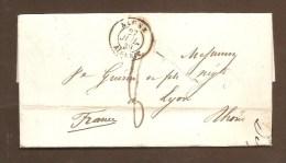 DOCUMENT HISTORIQUE - BELLE LETTRE D'ALGER 1839, Purifiée à TOULON -  Ecrite Par L' Eveque D'Alger - Voir Description - Poststempel (Briefe)