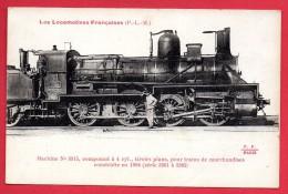 Locomotive PLM  N°.  3315 . Machine Compound Pour Trains De Marchandises Construite En 1894 - Trains